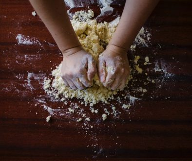 person baking as a hobby
