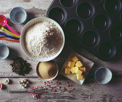baking tools on table